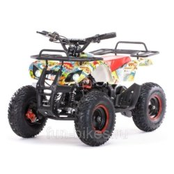 Детский квадроцикл на аккумуляторе MOTAX Mini Grizlik Х-16 Big Wheel 1000W бомбер (пульт контроля, до 35 км/ч, увеличенный протектор)
