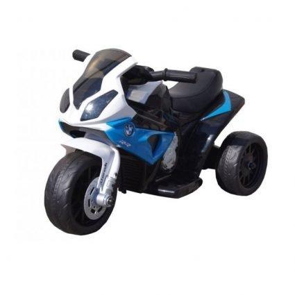 Электромотоцикл BMW S1000RR Blue (трицикл, 6V) - JT5188 (кожаное кресло, музыка, свет фар)
