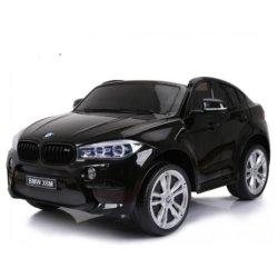 Детский электромобиль BMW X6M12V - JJ2168 черный (2х местный, колеса резина, кресло кожа, пульт, музыка)