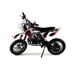Мини кросс бензиновый MOTAX 50 cc бело красный (бензиновый, электро стартер, до 50 кг, до 45 км/ч, вариатор, тормоза дисковые механические)