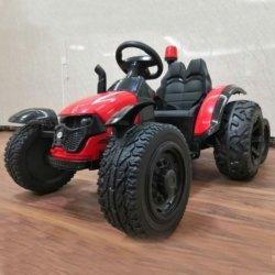 Электромобиль трактор с прицепом TR99 (колеса резина, кресло кожа, пульт, музыка, прицеп)