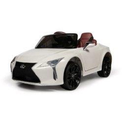 Электромобиль LEXUS LC500 LICENSE белый (колеса резина, кресло кожа, пульт, музыка)